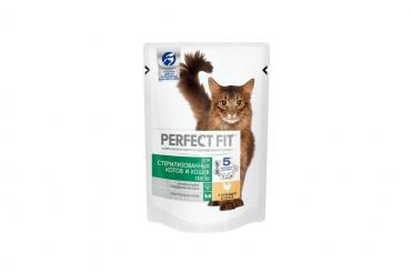 Корм для стериллизованный кошек, Perfect Fit, 85 гр., пауч