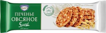 Печенье овсяное Пять злаков,Полёт, 250 гр., флоу-пак