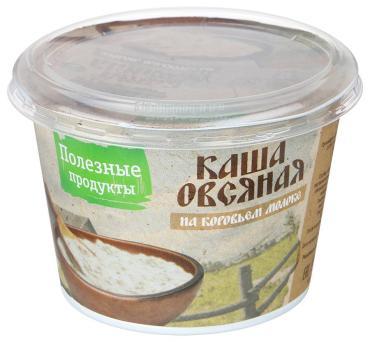 Каша молочная овсянная 6 % Полезные продукты, 230 гр., пластиковый стакан
