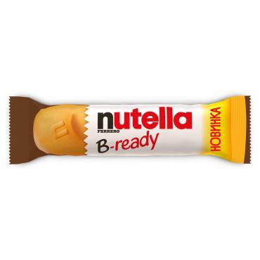 Вафельный батончик B-Ready , Nutella, 22 гр., флоу-пак
