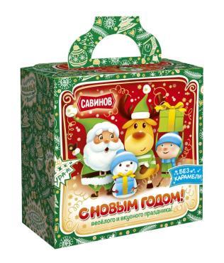 Набор кондитерский (конфеты, печенье), Зима, Снежки, Ура! ,Савинов,  500 гр., картон