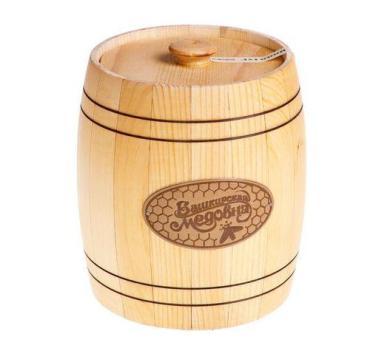Мёд наборный липовый Башкирская медовня, 2 кг., подарочная упаковка