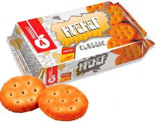 Печенье крекер Классика, Алматинский продукт, 300 гр., флоу-пак