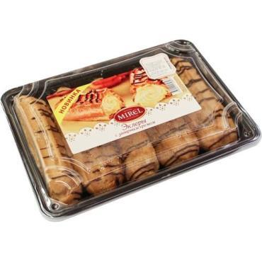 Пироженые Эклеры с заварным кремом Mirel, 160 гр., пластиковый контейнер