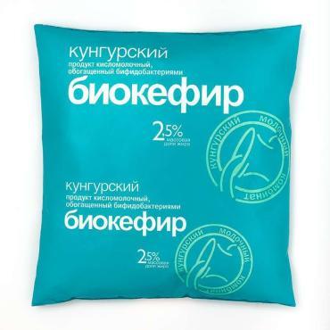Биокефир 2,5% Кунгурский МК, 450 гр., пластиковый пакет