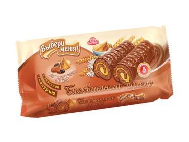 Мини-рулет вареная сгущенка с какао Выбери меня, 140 гр., флоу-пак