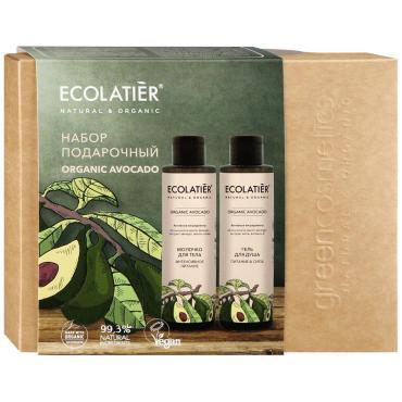 Подарочный набор гель для душа + Молочко для тела, Ecolatier Organic Avocado, 200 мл., картон