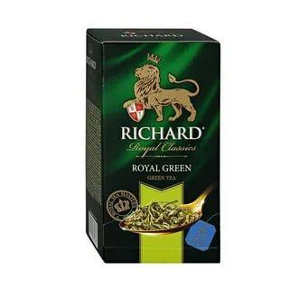 Чай зеленый Richard Royal Green, 50 гр., картон