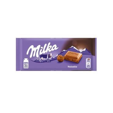 Молочный шоколад  Noisette  , Milka, 100 гр., флоу-пак
