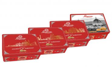 Печенье Lazzaroni Amaretti Итальянские мотивы, 300 гр., картон