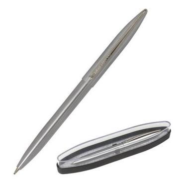 Ручка бизнес-класса шариковая, синяя, корпус серебристый Brauberg Ballet, пластиковая коробка