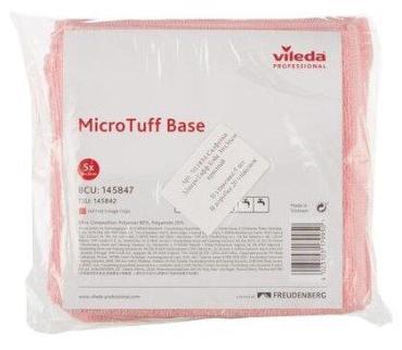 Салфетка микроволоконная 360х360 мм., желтая Vileda Микротафф бэйс, пластиковый пакет