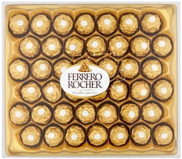 Конфеты молочный шоколад, начинка из крема и лесного ореха, Ferrero Rocher, 525 гр., картон