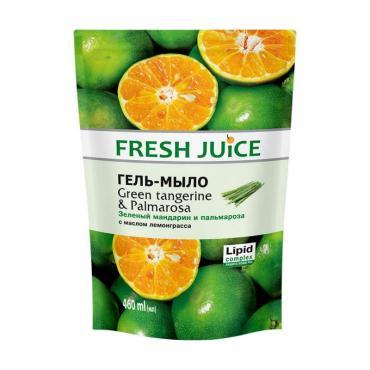 Гель-мыло Green Tangerine & Palmarosa, Fresh Juice, 460 мл., дой-пак