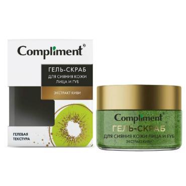 Гель-скраб для сияния кожи лица и губ с экстрактом киви Compliment Juicy Bloom, 100 мл., картон