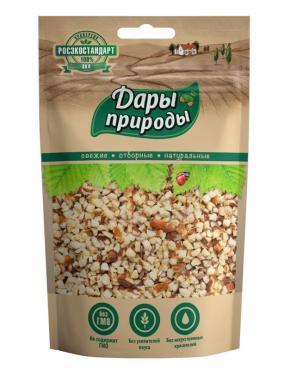 Ядра орехов миндаль жареный дробленый, Дары природы, 150 гр., флоу-пак