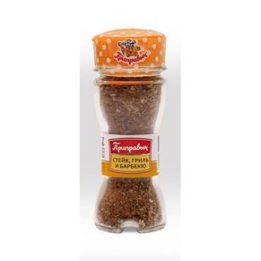 Специи для стейка, гриля и барбекю Приправыч, 46 гр., картон