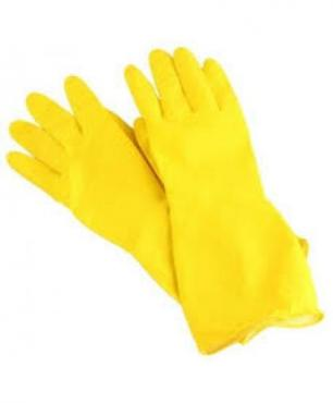 Перчатки хозяйственные L особопрочные латекс желтые York