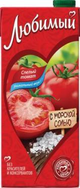 Сок томатный, Любимый Сад, 1 л., тетра-пак