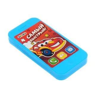 Музыкальный телефон звук, работает от батареек 8,5 см х 1,5 см х 16,5 см.