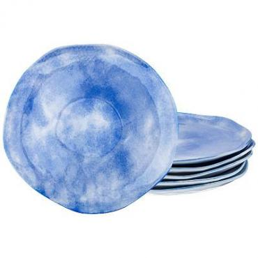 Набор обеденных тарелок, 6 штук, 26 см., Lefard Парадиз голубая лагуна
