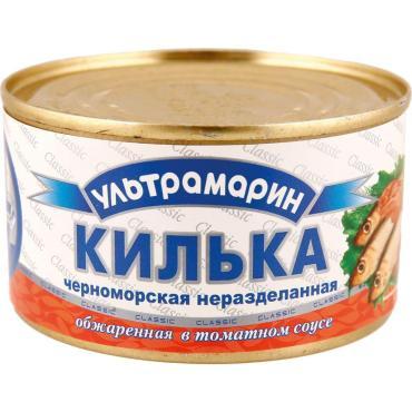Килька Ультрамарин в т/соусе , 240 гр, ж/б