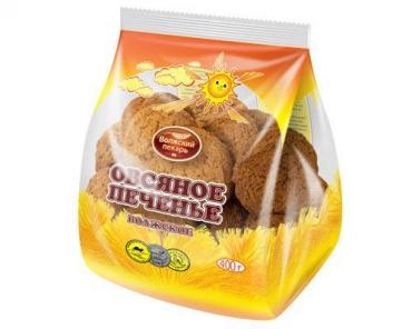 Печенье овсяное, Волжский пекарь, 400 гр., флоу-пак