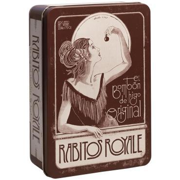 Конфеты Rabitos Royale инжир в тёмном шоколаде ганаш с бренди Юбилейные, 224 гр., ж/б