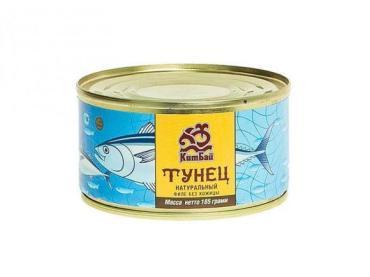 Тунец натуральный филе КитБай, 185 гр., ж/б