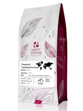 Молотый кофе Микролот Гватемала Антигуа UNITY COFFEE, 1 кг., флоу-пак