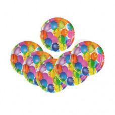 Тарелка бумажная набор 6 шт. Страна Карнавалия Воздушные шарики, 10 гр., пластиковый пакет