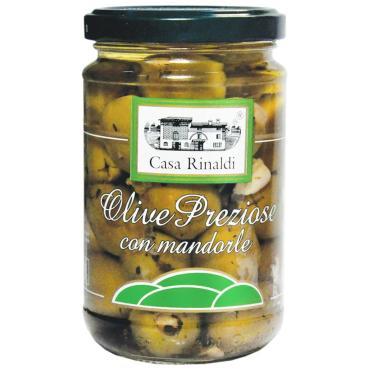 Оливки Casa Rinaldi Каламата с косточкой , 300 гр, стекло