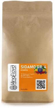 Кофе в зернах свежеобжаренный KINGFLOYD Эфиопия Сидамо грейд 4, 1000 гр., пакет с клапаном