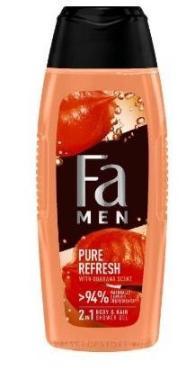 Гель для душа FA MEN Pure Refresh с ароматом гуараны, 250 мл ., ПЭТ
