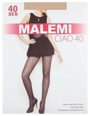 Колготки женские Malemi Ciao 40 den, цвет Nero, размер 3, пластиковый пакет
