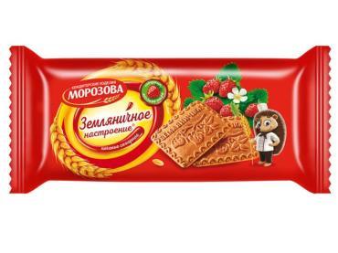 Печенье Морозова Земляничное, 290 гр., флоу-пак