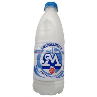 Молоко Молочная Азбука пастеризованное 2,5%, 900 мл., ПЭТ