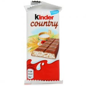 Шоколад Kinder Country, 23,5 гр., флоу-пак