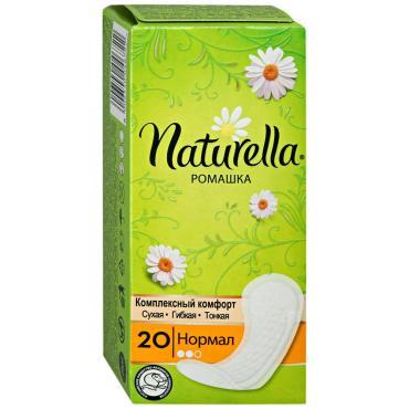 Прокладки Naturella, ежедневные Нормал Ромашка Гигиенические 20 шт., 64 гр., картон