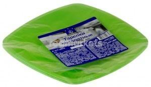 Тарелки одноразовые Horeca Select Зеленые 230 мм в упаковке, 6 шт