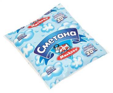 Сметана Усадьба Милково, Гост, 10%, 500 гр., пакет