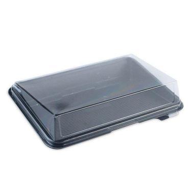Крышка для контейнер для суши, витрина Кадо Прим внешний 191х144х45 мм., внутренний 169х121х41 мм., прозрачный, ОПС, 640 шт, картон