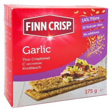 Cухарики Finn Crisp с чесноком, 175 гр., картон, 9 шт.