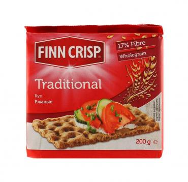 Хлебцы Finn Crisp Traditional ржаные, 200 гр., пластиковая упаковка, 12 шт.