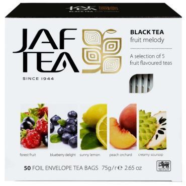 Чай Jaf Tea, РС Fruit melody черный с добавками листовой, 75 гр., картон