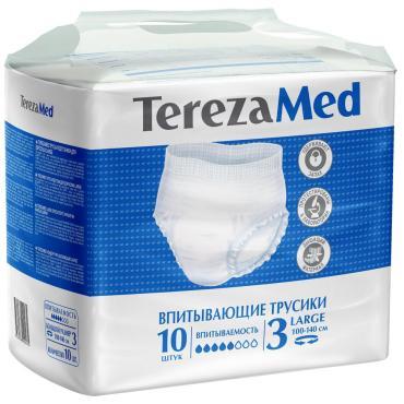 Подгузники-трусы TerezaMed Large №3 для взрослых, 10 шт., пакет