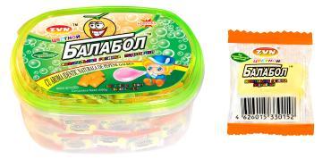 Жевательная резинка Zvn Балабол цветной Мята и дыня 180шт