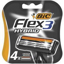 Кассеты Bic Flex 3 Hybrid для бритвенного станка с тройными лезвиями