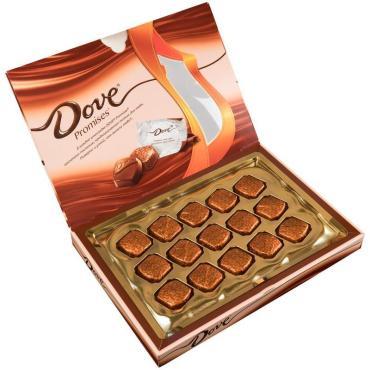 Шоколадные конфеты Dove Promises, 96 гр., Картонная коробка