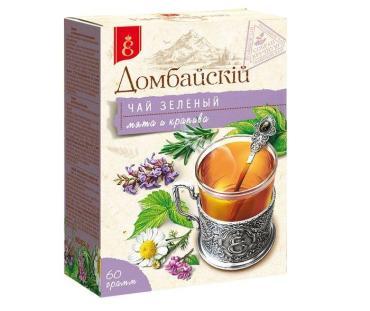 Чай зеленый Краснодарскiй чай ВЕКА Домбайскiй с травами